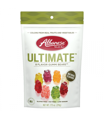 Albanese Ultimate™ 8 Flavour Gummi Bears™ Gusset Bag - 7.75oz (219g) Sweets and Candy Albanese