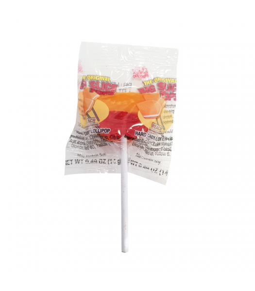 Alberts Big Slice Pops Peach - 0.42oz (11.9g) Sweets and Candy