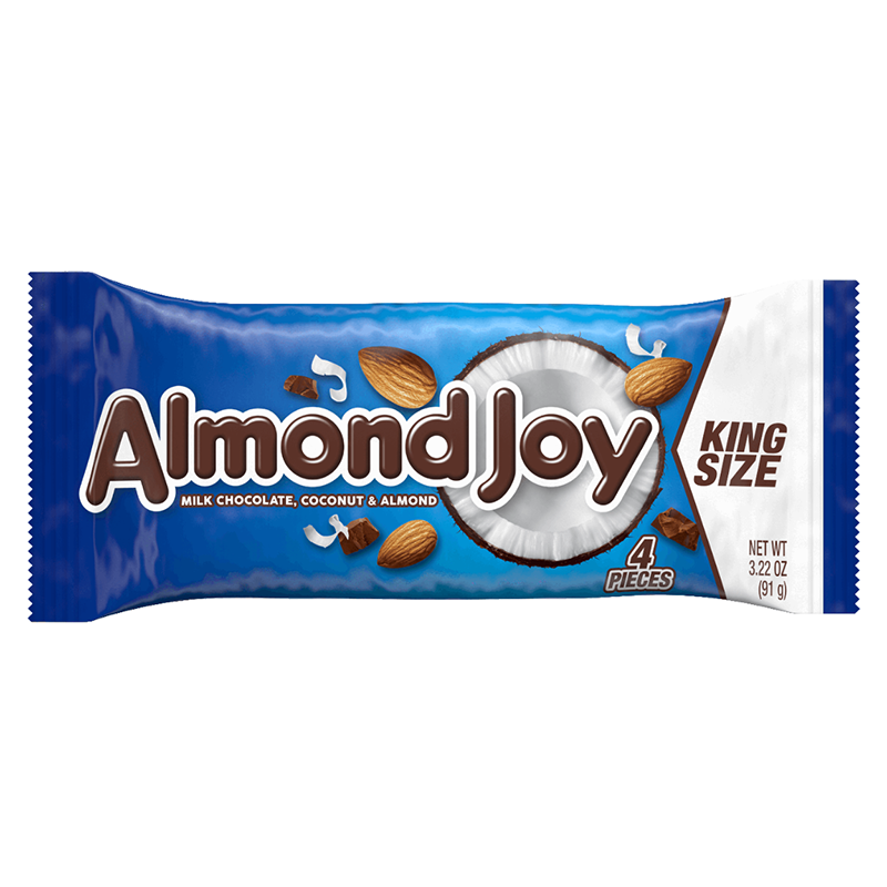 Hershey's Almond Joy Bar King Size 3.22oz (91g) - American Fizz