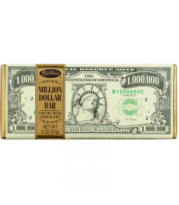 Bartons Million Dollar Milk Chocolate Bar 2oz (57g) Chocolate, Bars & Treats Bartons