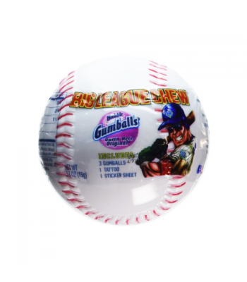 Big League Chew Bubblegum Baseball 0.53oz (15g) Bubble Gum Big League Chew
