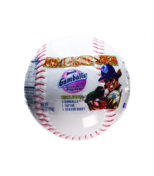 Big League Chew Bubblegum Baseball 0.53oz (15g) Bubble Gum Big League Chew