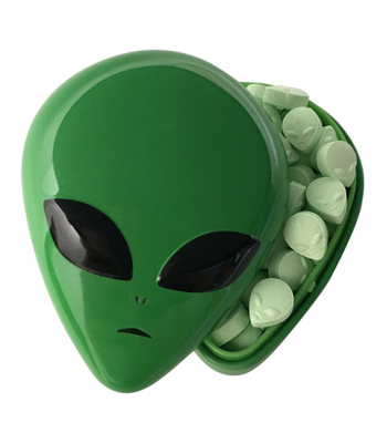Alien Head Sour Candy Tin 1oz (28g) Sweets and Candy