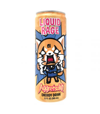 Aggretsuko Liquid Rage Energy Drink - 12fl.oz (355ml) Soda and Drinks Boston America