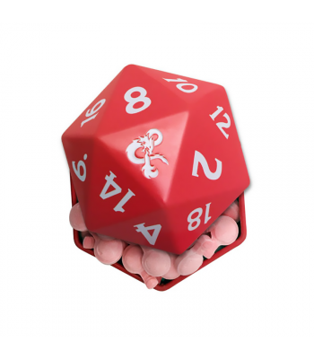 Dungeons & Dragons D20 +1 Cherry Potion Candy Tin - 1.2oz (34g) Sweets and Candy Boston America