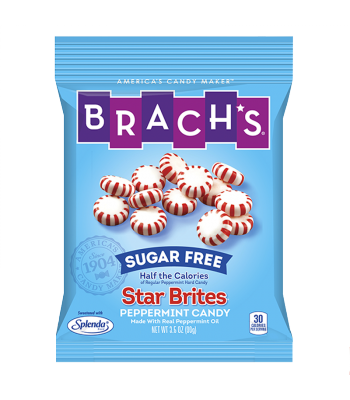 Brach's Sugar Free Star Brites Peppermint Hard Candy 3.5oz (99g) Sugar Free Brach's