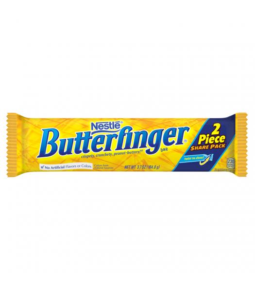 Nestle Butterfinger 2 Piece Share Pack Bar 3.7oz (104.8g) Chocolate, Bars & Treats Butterfinger