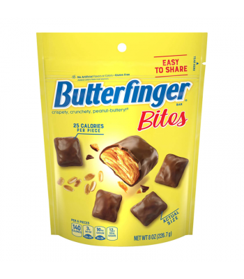Butterfinger Bites Stand Up Bag - 8oz (226.7g) Sweets and Candy Butterfinger