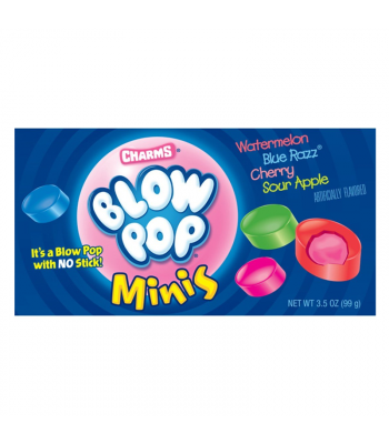Charms Blow Pop Minis Theatre Box - 3.5oz (85g) Sweets and Candy Charms