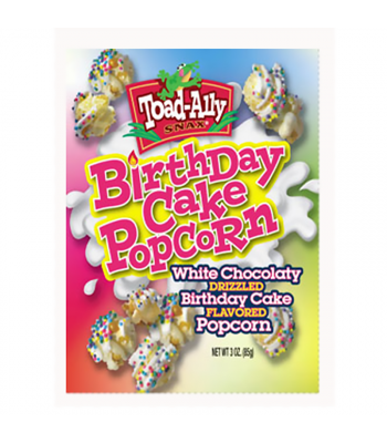 Toad-Ally - Birthday Cake Popcorn - 3oz (85g)  Snacks and Chips