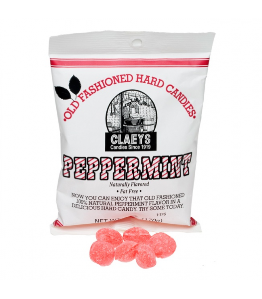 Claeys Old Fashioned Hard Candy - Peppermint 6oz (170g)