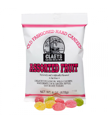 Claeys Old Fashioned Candy - Assorted Fruit - 6oz (170g) Sweets and Candy Claeys