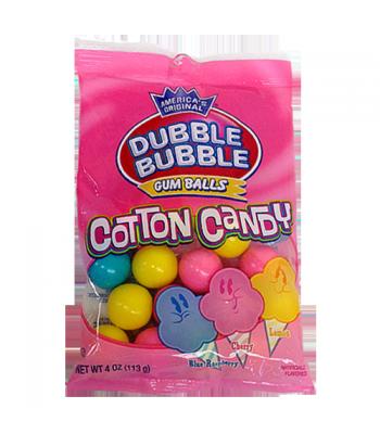 Dubble Bubble Gum Balls Cotton Candy Peg Bag - 4oz (113g) Sweets and Candy Dubble Bubble