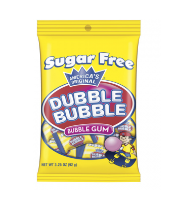 Dubble Bubble Sugar Free Bubble Gum 3.25oz (92g) Bubble Gum Dubble Bubble