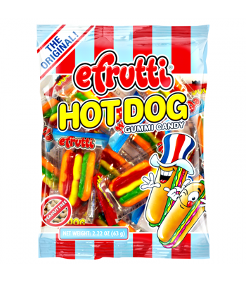 E.Frutti Gummi Candy Hot Dogs Peg Bag 2.22oz (63g) Soft Candy