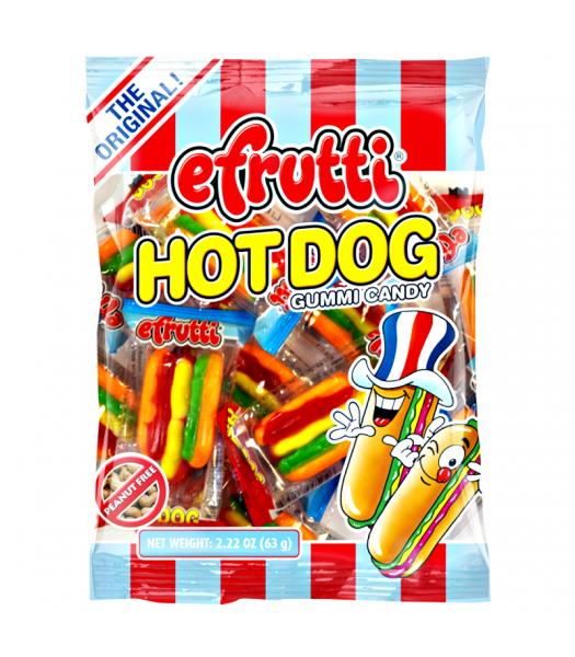 E.Frutti Gummi Candy Hot Dogs Peg Bag - 2.22oz (63g) Sweets and Candy E.Frutti