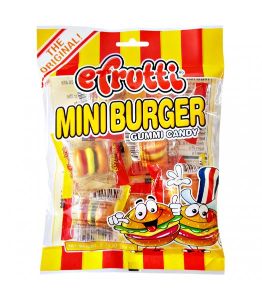 E.Frutti Gummi Candy Mini Burgers Peg Bag 2.22oz (63g) Sweets and Candy E.Frutti