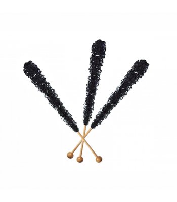 Espeez - Rock Candy on a Stick - Black Cherry (Black) - SINGLE 0.8oz (22g) Lollipops