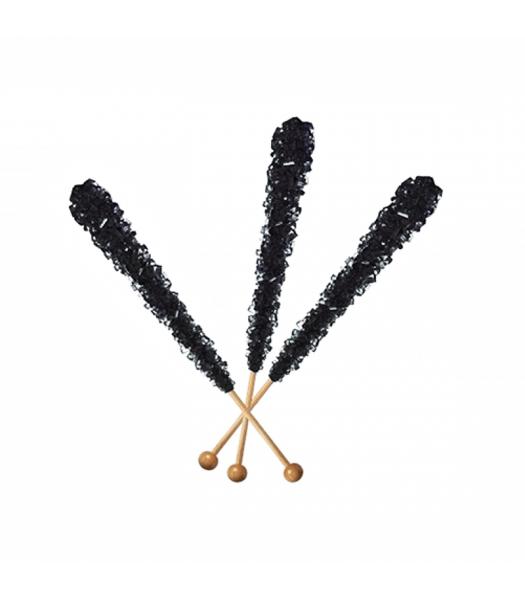 Espeez - Rock Candy on a Stick - Black Cherry (Black) - SINGLE 0.8oz (22g) Lollipops