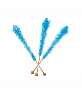 Espeez - Rock Candy on a Stick - Blue Raspberry (Blue) - SINGLE 0.8oz (22g) Hard Candy