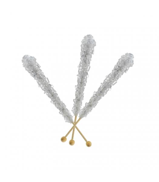 Espeez - Rock Candy on a Stick - Silver - SINGLE 0.8oz (22g) Lollipops Espeez