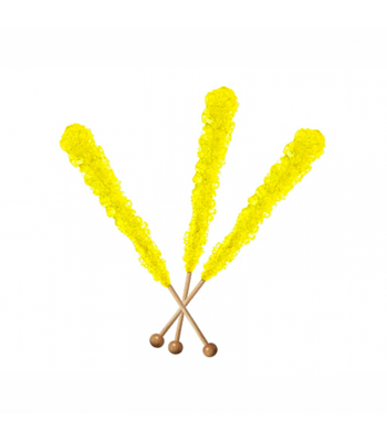 Espeez - Rock Candy on a Stick - Banana (Yellow) - SINGLE 0.8oz (22g) Hard Candy