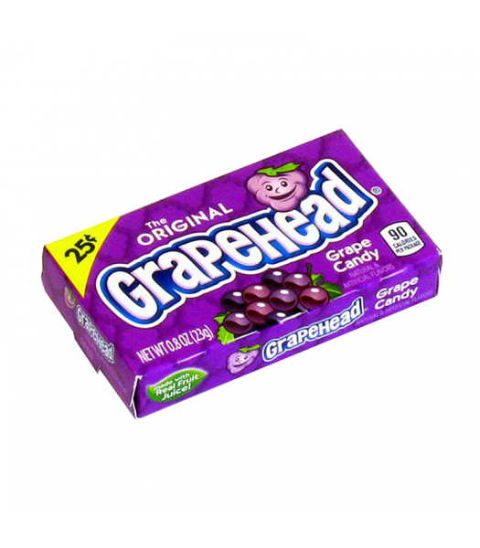 Ferrara Pan GrapeHead Grape Candy 0.8oz (23g) Soft Candy Ferrara