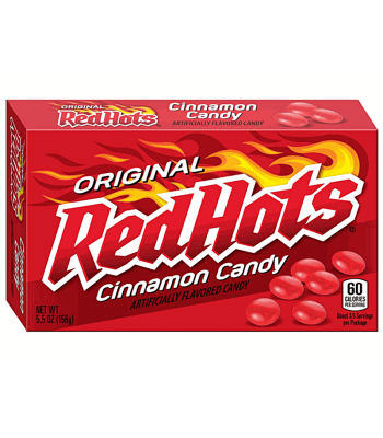 Red Hots Original Cinnamon Candy - Theatre Box - 5.5oz (156g) Hard Candy Ferrara