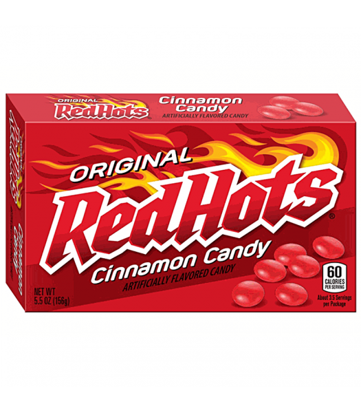 Red Hots Original Cinnamon Candy - Theatre Box - 5.5oz (156g) Hard Candy Ferrara