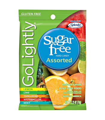 GoLightly - Assorted Sugar Free Hardy Candy - 2.75oz (78g) Sweets and Candy