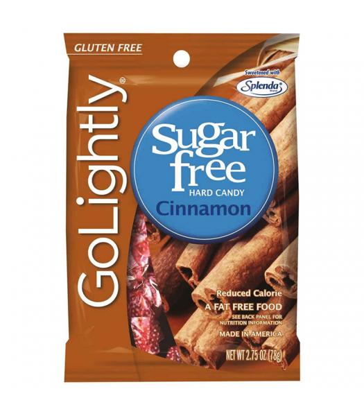 GoLightly - Cinnamon Sugar Free Candy - 2.75oz (78g) Sugar Free