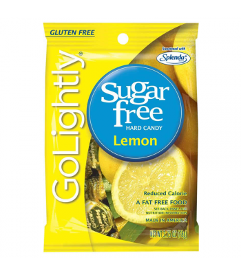 GoLightly - Lemon Sugar Free Candy - 2.75oz (78g) Sweets and Candy