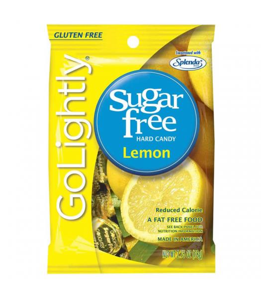 GoLightly - Lemon Sugar Free Candy - 2.75oz (78g) Sugar Free