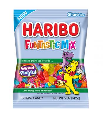 Haribo Funtastic Mix Peg Bag - 5oz (142g) Sweets and Candy Haribo