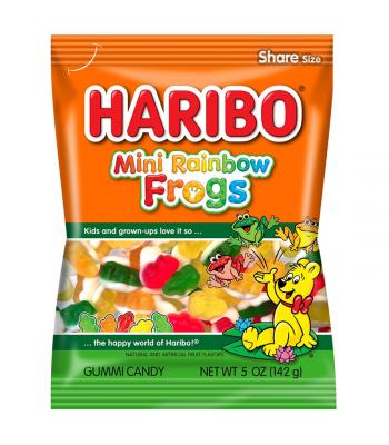 Haribo Mini Rainbow Frogs Peg Bag 5oz (142g) Sweets and Candy Haribo