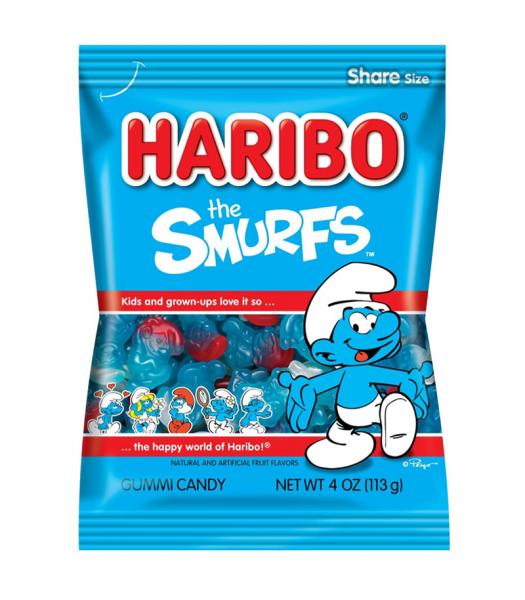 Haribo Smurfs Peg Bag 4oz (113g) Sweets and Candy Haribo