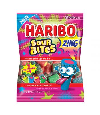 Haribo Zing Sour Bites Peg Bag 4.5oz (127g)