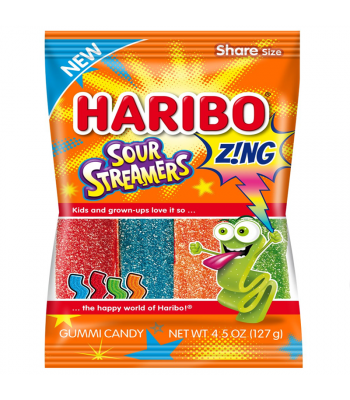 Haribo Sour Streamers Peg Bag - 4.5oz (127g) Sweets and Candy Haribo