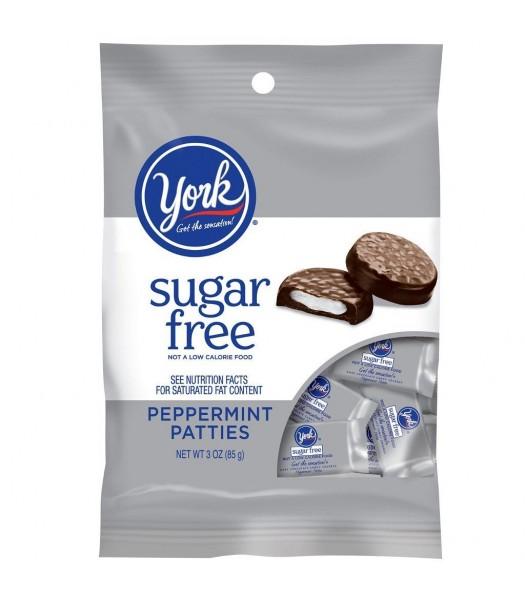 York SUGAR FREE Peppermint Patties Peg Bag 3oz (85g) Chocolate, Bars & Treats York