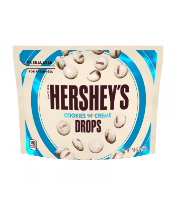 Hershey's Cookies 'N' Creme Drops Pouch - 7.6oz (215g) Sweets and Candy Hershey's