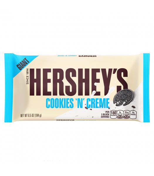 Hershey's GIANT Cookies and Creme Chocolate Bar 6.5oz (184g) Chocolate, Bars & Treats Hershey's