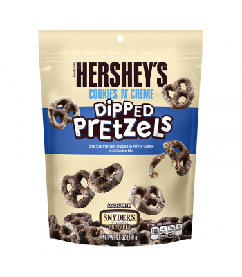 Hershey's - Cookies 'N' Creme Dipped Pretzels - 8.5oz (241g) Pretzel Snacks Hershey's