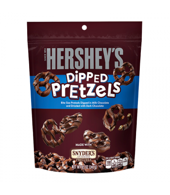 Hershey's - Milk Chocolate Dipped Pretzels - 8.5oz (240g) Pretzel Snacks Hershey's
