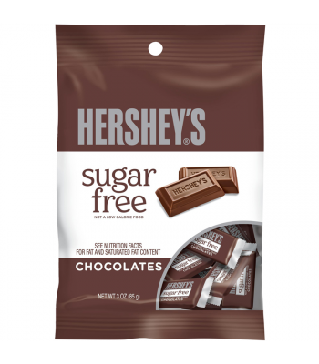 Hershey's Sugar Free Mini Chocolate Bar Peg Bag 3oz