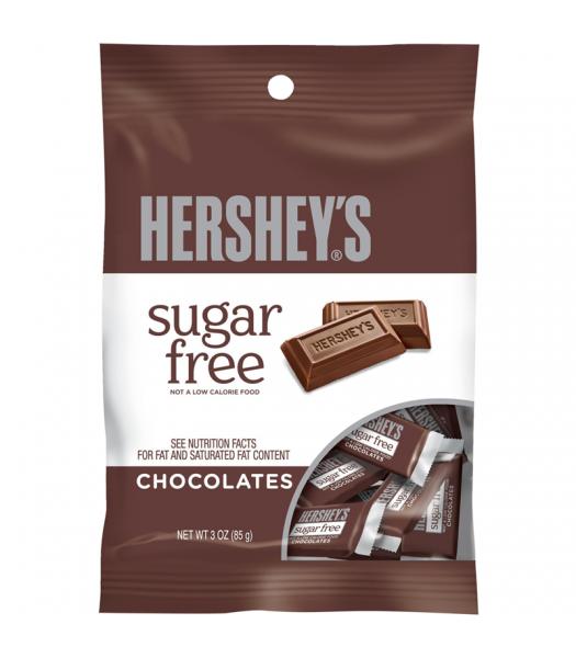 Hershey's Sugar Free Mini Chocolate Bar Peg Bag 3oz Chocolate, Bars & Treats Hershey's