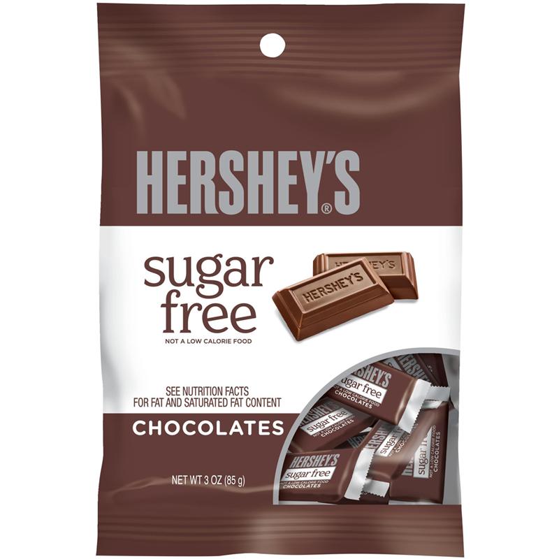 Hershey's Sugar Free Mini Chocolate Bar Peg Bag 3oz ...