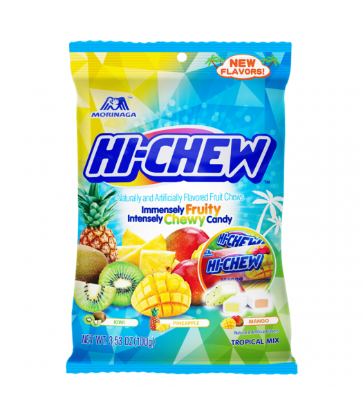 Hi-Chew Tropical Mix Peg Bag - 3.53oz (100g) Sweets and Candy HI-CHEW