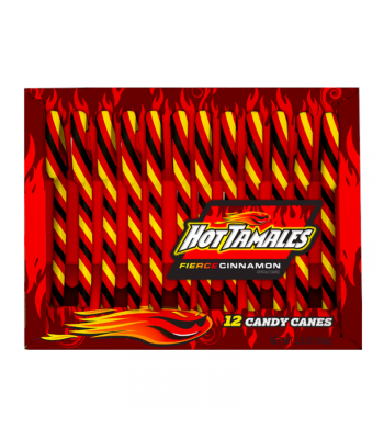 Hot Tamales Candy Canes - 5.3oz (150g) Sweets and Candy Hot Tamales