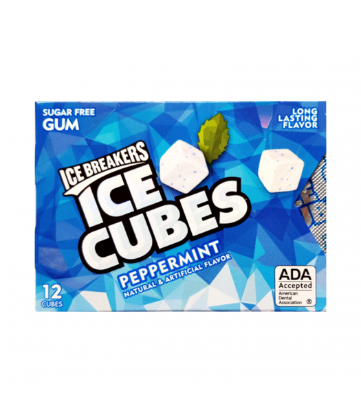 Ice Breakers Ice Cubes Sugar Free Gum - Peppermint - 12 Cube Pack Bubble Gum Ice Breakers