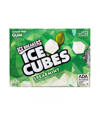 Ice Breakers Ice Cubes Sugar Free Gum - Spearmint - 12 Cube Pack Bubble Gum Ice Breakers